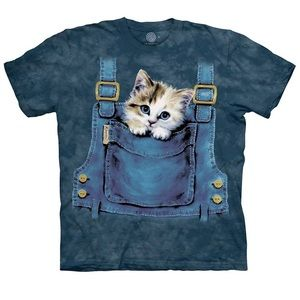 The Mountain Kitty Overalls T-Shirt